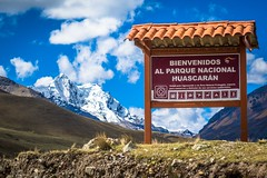 Entering Huascaran National Park to head further into the mountains.