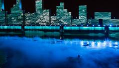 AVUDO - 375e Montréal - Pré show/Avant le spectacle (BLEUnord) Tags: avudo montréal québec fleuve river stlaurent stlawrencee bleu blue brume fog centreville downtown skyline bateau boat spectacle show 375 anniversaire été summer 2017 édifices buildings décor