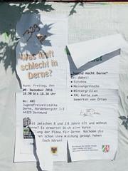 Gerne in Derne (mkorsakov) Tags: dortmund nordstadt hafen flyer zettel plakat poster awo jugendamt jfz ripped zerrissen