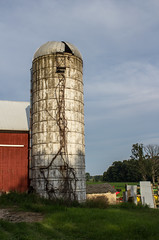 Weathered Silo (marylea) Tags: 2017 jul21 walk summer evening rural michigan washtenawcounty silo weathered decay ruraldecay farm vertical 1897