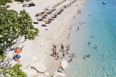 Gjipe, Dhërmi, Albania (Tokil) Tags: gjipe albania balkans east trip travel colors sea mediterranean summer nature beach water blue people umbrellas coast shqipëri shqipëria nikond90