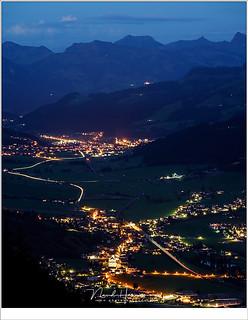 Brixenthale in de vroege nacht