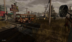 Missed the Bus (Dax Saffron) Tags: wasteland sl secondlife virtualworld virtual