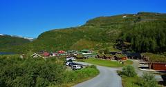 Osterbo Mountain Lodge. (Eddie Crutchley) Tags: europe norway cruise2017norwayicelandireland outdoor beauty nature mountain osterbomountainlodge sunlight blueskies