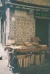 Napoli (cranjam) Tags: lomo lca lomography film agfa vista200 italy italia campania napoli naples rionesanità fruttivendolo tiles piastrelle quartierestella vicotraetta