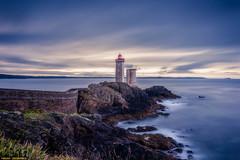 500px Photo ID: 224425457 (michael_meuleman) Tags: lighthouse faro beacon corbiere seascape sunset sea clouds longexposure travel brest bretagne