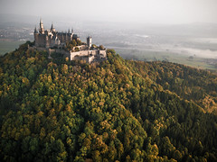 ♫ Castle on the Hill ♫ (Explore #13) (Fabian Fortmann) Tags: burg castle hohenzollern baden württemberg autumn sunrise fog forrest adventure roadtrip morning sonnenaufgang germany deutschland