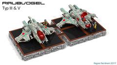 Raubvogel Typ III & V (CK-MCMLXXXI) Tags: lego moc starfighter interceptor raubvogel schwarm ldd digital render povray