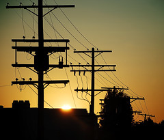 Sunrise (Chris Yarzab) Tags: powerlines