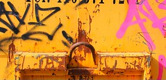 Skip (TWO7rabbit) Tags: toronto torontoscenes torontophotography abstractcomposition skip dumpster graffiti colourphotography photobybrianswyatt