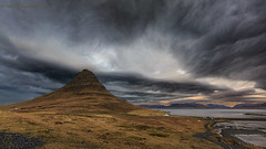 Doomsday at Kurkjufell (Pete 5D...©...) Tags: apocalyptic kurkjufell cloud arcus shelf dramatic mountain landmark iceland storm stormy skies