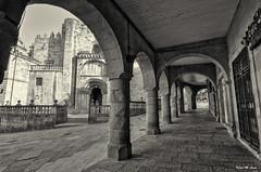 Catedral de Orense, fachada lateral (Jose Manuel Cano) Tags: catedral cathedral orense galicia españa spain nikond5100 ciudad city antiguo old piedra stone bn bw