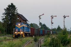 TEM2-146 by PlessRail - 2017.09.28 || Baborów || TEM2-146 z pustymi węglarkami pod załadunek zboża, wjeżdża do Baborowa. Wagony zostaną załadowane w tutejszym elewatorze.  plessrail.pl