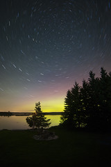 Starry Night (Peter Stahl Photography) Tags: northernlights auroraborealis alberta polaris startrails starrynight