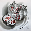 Гранат (ПЯТНИЦКАЯ) Tags: garnet fruit stillife graphic pencil гранат фрукт натюрморт графика карандаш