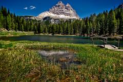 Lago d'Antorno (Don César) Tags: italia italy europe europa meadow pradera montaña mountain lake lago summer verano verde green peak pico bosque southtyrol südtirol dreizinnen dolomites dolomiti