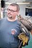 Birds of Prey (GazerStudios) Tags: gloves men animals birds raptors feathers hawks glasses goatees blue