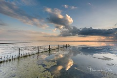 The mirror (Ellen van den Doel) Tags: natuur landscape sunset nature reflection reflectie nederland outdoor september clouds goeree 2017 landschap overflakkee water netherlands zonsondergang wolken fence ouddorp zuidholland nl