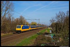NSR 186 035, Schiedam 26-03-2017 (Henk Zwoferink) Tags: schiedam zuidholland nederland nl nsr ns reizigers henk zwoferink 186 035 traxx bombardier