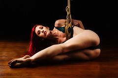 The Most Ghost (David Arran Photography) Tags: kink davidarranphotography alienbees shibari futumomo kinbaku tied redhead photographersontumblr gote rope bondage fetish ginger suspension