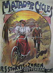 Some vintage and recent bicycle posters. (HAGASAN) Tags: 100yearsofbicycleposters art bicycle bicyclehistory bike copenhagenize cyclechic cycling fahrräd graphicdesign history holland lithograph matador matadorcycles nederland poster rsstokviszonen rotterdam vélo vintage vintagebicycleposter