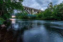 Blackstone river bike path (brianproal) Tags: bridges waterfalls longexposure ndfilter canon7dmark11 tokina1116 sunsetcloudssummersky