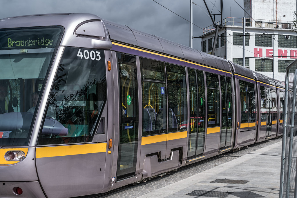THE NEW LUAS TRAM STOP AT BROADSTONE [TESTING PHASE UNTIL EARLY DECEMBER]-1324695