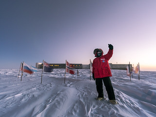 Ceremonial South Pole Selfie 1 of 3 [Explored September 6, 2017]