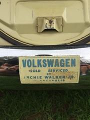 Vintage VW dealer decal. (63vwdriver) Tags: vintage antique vw volkswagen dealer dealership sticker decal archie walker junior minneapolis mn
