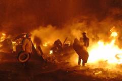 Assistant (oleksandr.burlaka) Tags: solder protest kyiv ukraine fire assistant