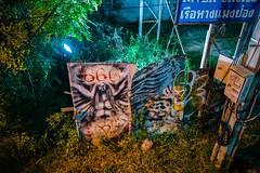 """666"" under the bridge, Chiang Mai (bwaters23) Tags: leica q thailand chiang asia mai travel night graffiti"