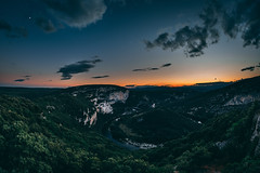 Orange Night (doelemanrobert) Tags: fuji fujifilm ardeche france 1024 8mm fisheye blog 1855 landscape sunset sun dark night evening blue thunder lightning views