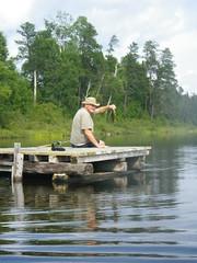 18-08-2017 Huronian - 4 (s.kosoris) Tags: skosoris pentaxoptiowg1 wg1 pentax huronian camp camping water lake fish bass dock