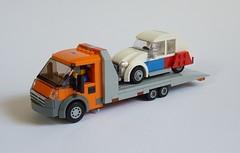 Fiat Ducato 4035 Tow Truck (MOCs & Stuff) Tags: lego city town fiat ducato 4035 tow truck flatbed maxi citroen 2cv