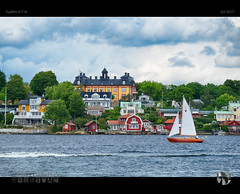 Sailing the Archipelago (tomraven) Tags: sailing yacht boat arhipelago stockholm sweden houses architecture tomraven aravenimage q32017 fujifilm xt10