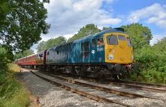 Visiting class 26 loco D5343 (26043) arrives at Shottle, with the 14.05 service from Wirksworth to Duffield. Ecclesbourne Valley Railway Summer Diesel Gala. 13 08 2017 (pnb511) Tags: ecclesbournevalleyrailwayevrwirksworthderbyshirepeak districttrainrailwaydiesellocolocomotiverailtrackengineclass 26 ecclesbourne valley railway summer diesel gala 13 08 2017 sulzer