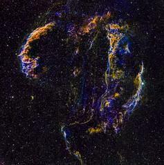 Cygnus Loop widefield mosaic (3x2) in HαSHO (Carballada) Tags: astrophotography astronomy deep space astro celestron zwo as1600mmc skywatcher ts sky qhy qhy5iii174 narrowband astrometrydotnet:id=nova2215244 astrometrydotnet:status=solved