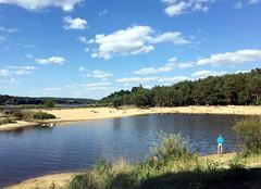 Lake behind the lake (roomman) Tags: 2017 poland świętokrzyskie voivodeship starachowice beach sand sandy lake behind hike hiking zalew brodzki dam artificial