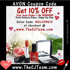 Avon Coupon Code (cjteamonline) Tags: avon avoncouponcode avoncouponcodes cjteam couponcodes finalday freeavon freeshipping goingfast lastday limitedquantities limitedtime newavoncouponcode onedayonly onetimeuse onlinepromotion orderavononline ordertoday promotion sale thecjteam today welcome10 whilesupplieslast