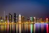 Qatar Rising (faizalakbar) Tags: doha night corniche canon 7d mark 2 ii faizal mohammed long exposure reflection