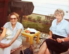 Grandma Molt and her sister Shirley (creed_400) Tags: grandma molt aunt shirley grand rapids west michigan 1977