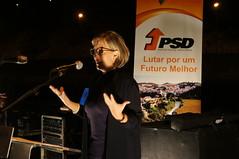 Maria Luís Albuquerque no Concelho de Odemira.