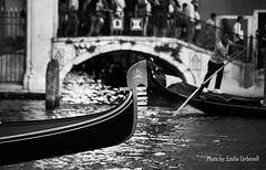 Grand Canal (Emilio Carbonell Galdón) Tags: venice venecia italia italy bw bn blackwhite gondole gondola boat city photoshopcreativo