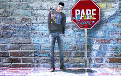 RARE (Levi Megadon // *OMG*) Tags: sl secondlife men mens male blog blogger style lotd look outfit mesh event new clothing fashion clothes tmd themensdept doux hair signature body catwa head hiemal sweater jumper street urban wear cool dope fresh hipster gabriel gb denim pants jeans retro vintage tucked boots trekking hiking shoes