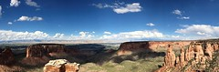 Panorama from the Grand View Overlook along the Rim Rock Drive in CNM (TrailMob.com) Tags: coloradonationalmonument coloradonm cnm canyonscenery redrocks colorado coloradonationalparks findyourpark trailmob hikingcolorado naturephotography outdoors grandjunction rockies rockymountains trails explore outside nature hiking hike coloradophotography rimrockdrive