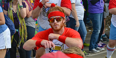 Ginger-haired Stomper (BKHagar *Kim*) Tags: bkhagar mardigras neworleans nola la louisiana 610stompers guys men dance krewe carnival celebration outdoors street napoleon uptown 2017