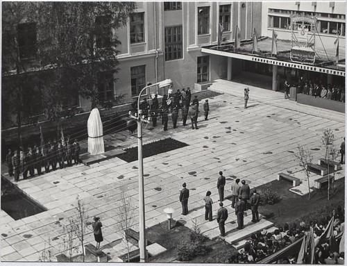 1976 Открытие памятника Ф.Э.Дзержинскому возле ДХТИ 01 ©  Alexander Volok