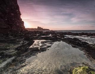 Tantallion Castle Sunset.