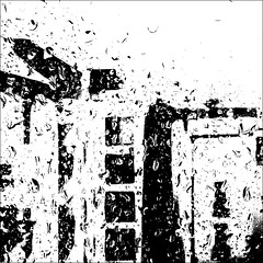 raindrops (j.p.yef) Tags: peterfey jpyef yef weather rain raindrops monochrome bw sw city germany hamburg backyard window glass drops digitalart photomanipulation bold bestcapturesaoi