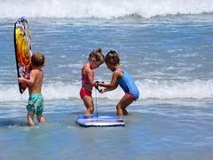Just random goodness of this world! (PointOfUPhotography) Tags: helpeachother loveeachother waves ocean blue littlekids board kids florida beach